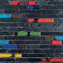 Mosaico Lava H 30 x L 33 cm nero, multicolor