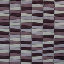 Mosaico Onda H 29.5 x L 30 cm viola, rosa