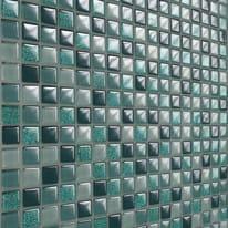Mosaico Glitter H 30 x L 30 cm verde