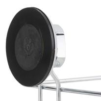 Mensola per bagno L 12 cm grigio