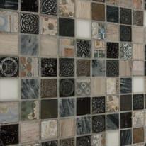 Mosaico Greyin H 30 x L 30 cm bianco, grigio, marrone, beige