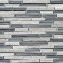Mosaico Berlino H 29.5 x L 37 cm bianco, antracite