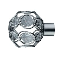 Finale per bastone Ø20mm Nilo sfera in ferro grigio e argento spazzolato INSPIRE Set di 2 pezzi