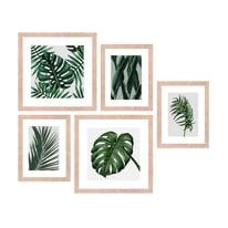 Quadro con cornice Jungle 54x50 cm 5 pezzi