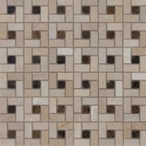 Mosaico Nido Pietracrema H 30.5 x L 30.5 cm bianco, beige
