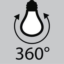 Lampadina Filamento LED E14 candela bianco caldo 4.5W = 470LM (equiv 40W) 360° LEXMAN