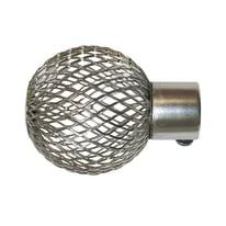 Finale per bastone Ø20mm Kama sfera in acciaio grigio anticato INSPIRE