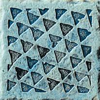 Decoro Fuel blu H 10 cm