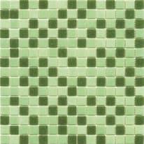 Mosaico Classic mix H 32.7 x L 32.7 cm verde