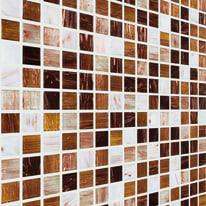 Mosaico Ambra chiara H 32.7 x L 32.7 cm multicolor