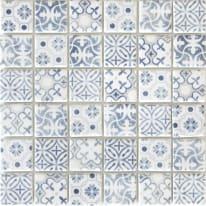 Mosaico Graphik H 30 x L 30 cm blu