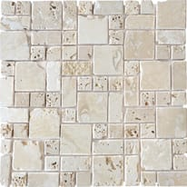 Mosaico Travertino Romano H 10 x L 30.5 cm