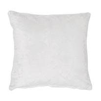 Cuscino Suedine bianco 50x50 cm Ø 0 cm