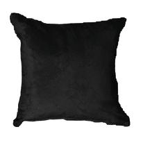 Cuscino per sedia o poltrona Suedine nero 50x50 cm