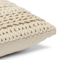Cuscino Cordy ecru 40x40 cm