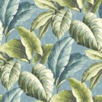 Carta da parati Palma verde/azzurro