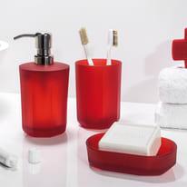 Dispenser sapone Face rosso