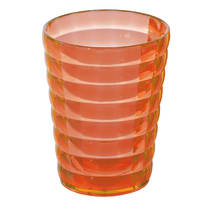 Bicchiere porta spazzolini Glady in plastica arancione