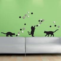 Sticker Fancy cats 47.5x70 cm