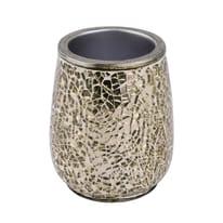 Bicchiere porta spazzolini Glam in poliresina oro