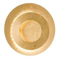 Applique Lauren oro, in metallo, 24x10 cm, LED integrato 10W 560LM IP20 WOFI
