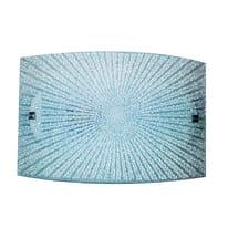 Applique Chanel bianco, in vetro, 20x32 cm, LED integrato 15W