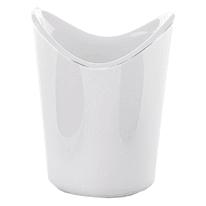 Porta spazzolini Moby in resina bianco