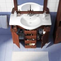 Mobile bagno Laura noce L 105 cm