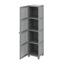 Armadio xl Modulize L 45 x P 40 x H 180 cm grigio antracite e grigio chiaro