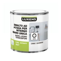 Smalto LUXENS base acqua bianco satinato 0.5 L