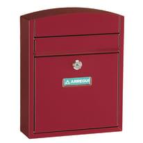Cassetta postale formato Lettera, rosso, L 24 x P 0.95 x H 28.5 cm