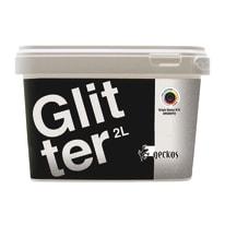 Pittura decorativa Glitter 2 l grigio effetto paillette
