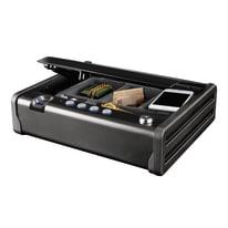 Cassetta porta valori MASTER LOCK MLD08EB in acciaio neroL 30.7 x P 25.1 x H 8.1 cm