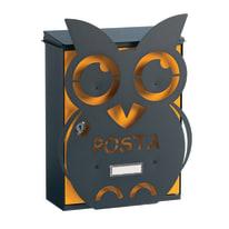 Cover per cassetta postale Mia Gufo in ghisa L 27.5 x H 36.5 cm