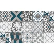 Tappeto Cucina antiscivolo Relax piastrella grigio 100x50 cm