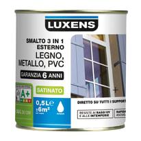 Smalto LUXENS base acqua grigio sasso 6 0.5 L