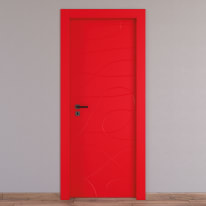 Porta a battente Wind Red rosso L 70 x H 210 cm destra