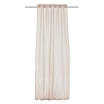 Tenda Basicos beige fettuccia con passanti nascosti 140x290 cm