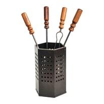 Kit accessori del camino Cubo x H 50 x P 18 cm