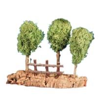 Alberi su roccia con steccato x H 5 cm