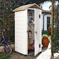 Casetta da giardino in pvc Tuscany 80 0.93 m² spessore 20 mm