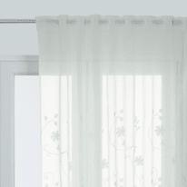 Tenda INSPIRE Brode floral bianco fettuccia con passanti nascosti 140x280 cm