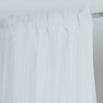 Tenda Toledo bianco fettuccia con passanti nascosti 300x290 cm