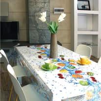 Tovaglia INSPIRE Cristallo frutta azzurro 140x220 cm