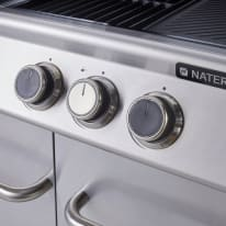 Barbecue a gas NATERIAL Hudson con fornello laterale e 4 bruciatori