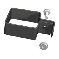 Collare di fissaggio in acciaio galvanizzato plastificato Medium L 5,5 x P 5.5 x H 3.5 cm