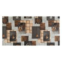 Tappeto Cucina antiscivolo Full nodo marrone 280x55 cm