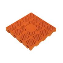 Piastrelle ad incastro Forata 40 x 40 cm, Sp 48 mm colore terracotta