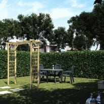 Pergola Doppia in legno naturale L 210 x P 72 x H 214 cm