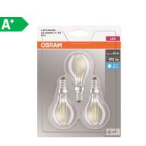 Lampadina LED E14 sferico bianco naturale 4W = 470LM (equiv 40W) 300° OSRAM